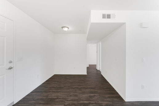 bright room with wood floors